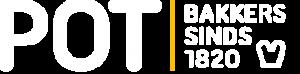 Het logo van Bakkerij pot. Een boterham icoontje met de tekst: POT, bakkers sinds 1820